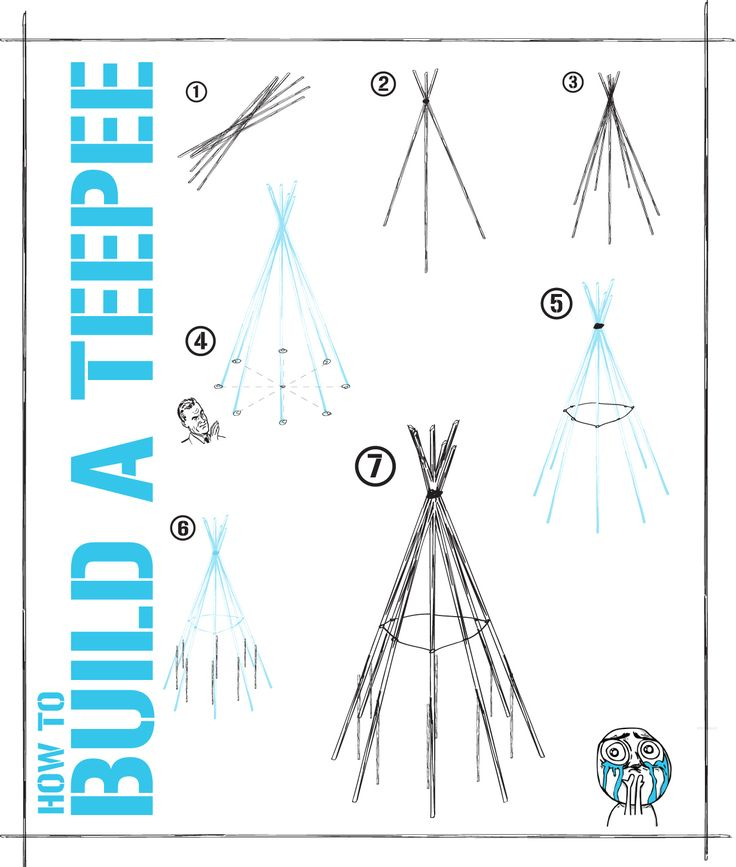 how to build a teepee fire