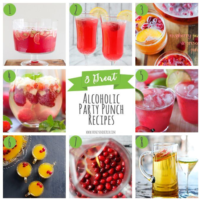 A round-up of 8 great alcoholic party punch recipes for your next adult gathering! Grab a punch, bowl a ladle and some glasses and you're ready to rock!