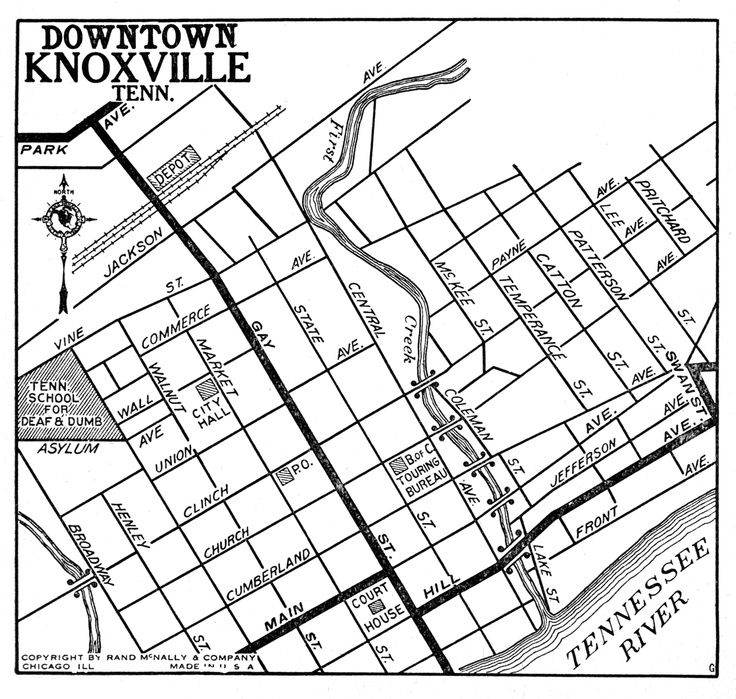 38 best Knoxville History images on Pinterest Knoxville map
