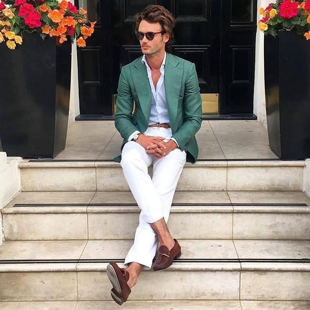 Nice Color Combo By Absolutebespoke Suit Stylesmale Stylemen S Stylesummer Weddingsmens Summer Wedding