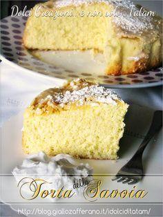 Torta della Savoia | ricetta dolce senza grassi e senza lievito