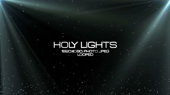 Holy Lights Video Animation | Full HD 1920×1080 | Looped | Photo JPEG | Can use for VJ, club, music perfomance, party, concert, presentation | #background #caption #concert #dance #dramatic #holy #light #motionbackground #music #opticalflare #particle #presentation #tittle #wedding #white
