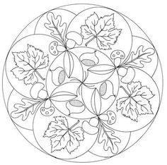 17 best images about coloring autumn thanksgiving on for Fall mandala coloring pages