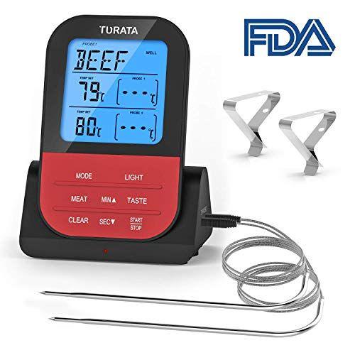 Küchenthermometer digital Einstichthermometer Haushaltsthermometer Edelstahl BBQ