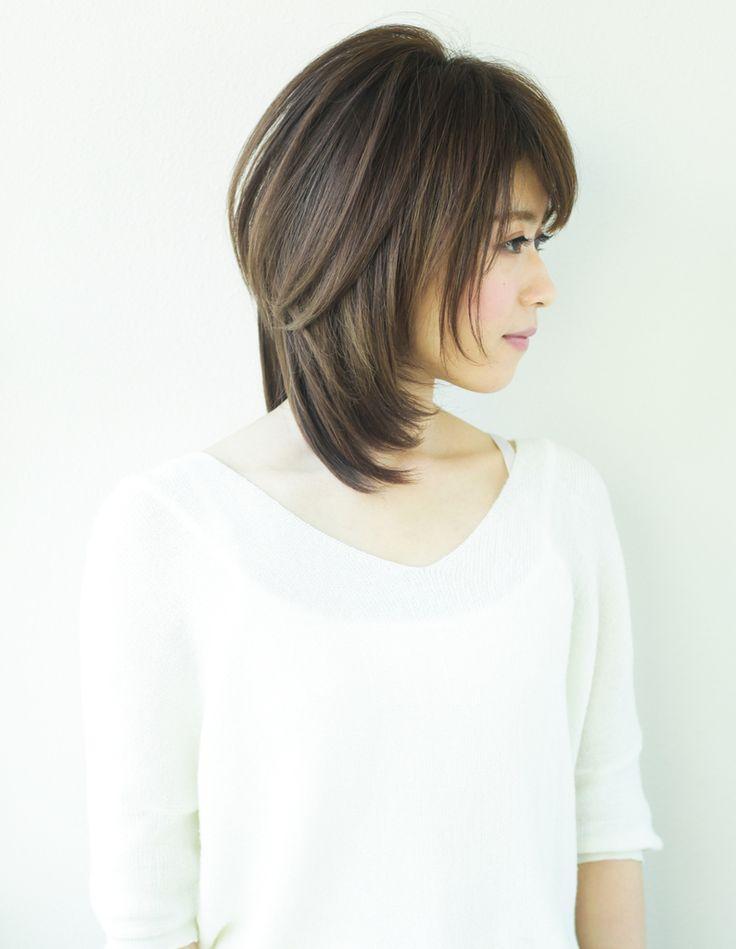 小顔スマートミディアムヘア(YR-464) | ヘアカタログ・髪型・ヘアスタイル|AFLOAT(アフロート)表参道・銀座・名古屋の美容室・美容院