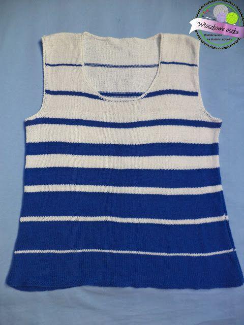 knitting vest in stripes  kamizelka na drutach w paski