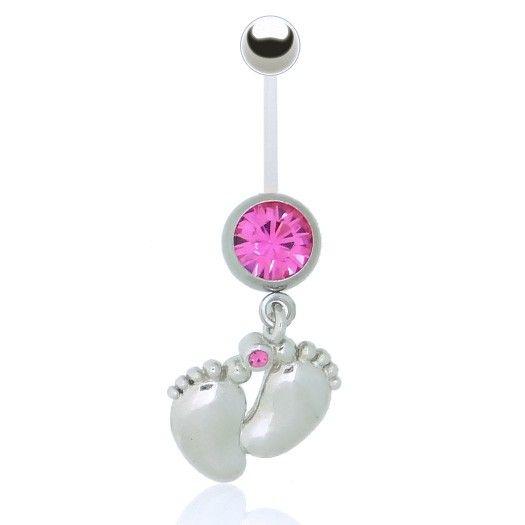 Bijou piercing nombril grosses barre flexible bioplast avec pendentif confortable. Découvrez nos bijoux spécial femme enceinte.