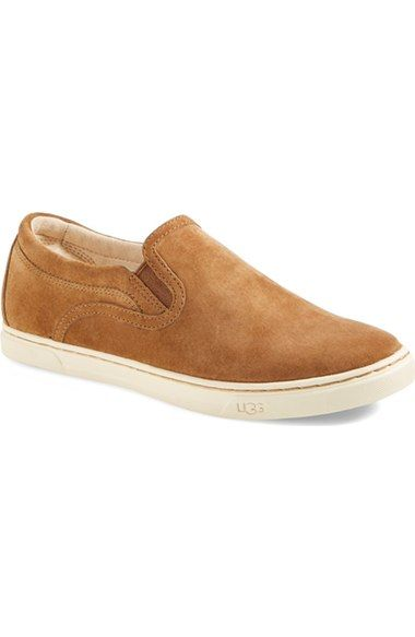 UGG® 'Fierce' Water Resistant Suede Slip-On Sneaker (Nordstrom Exclusive Color) (Women) available at #Nordstrom