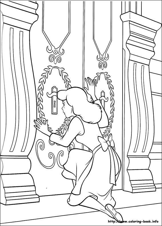 22 Best Cinderella Coloring Book Images On Pinterest