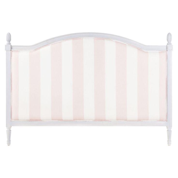 Cabecero infantil 140 cm de rayas rosa PARIS MODE