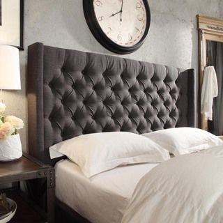 SIGNAL HILLS Naples Wingback Button Tufted Upholstered Full-sized Bed | Overstock.com Shopping - The Best Deals on Beds