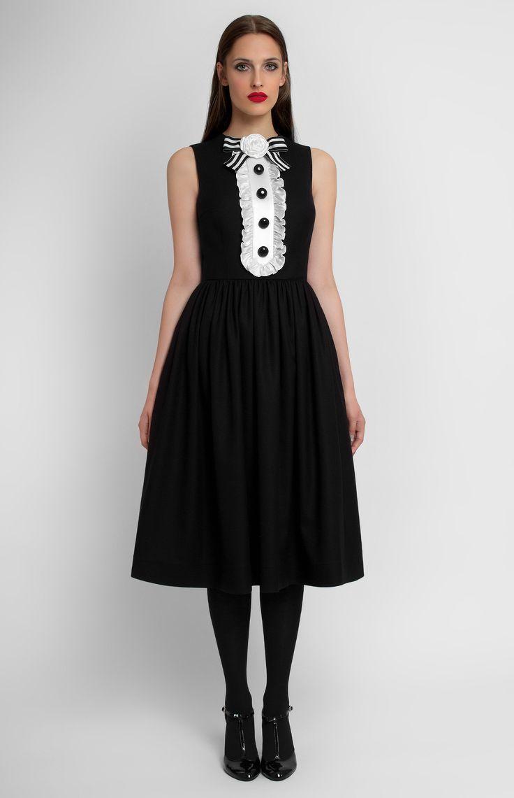 Pintel Store — DESIREE — women dress in wool (Italy)