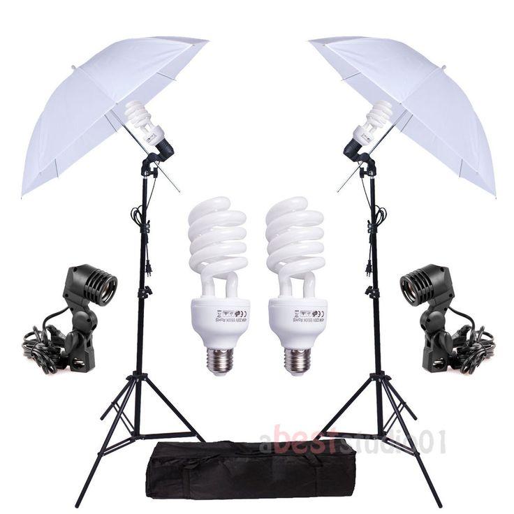 Photography Studio bulb Lamp Umbrella Light Stand Set Continuous Lighting Kit | Cameras & Photo, Lighting & Studio, Continuous Lighting | eBay!