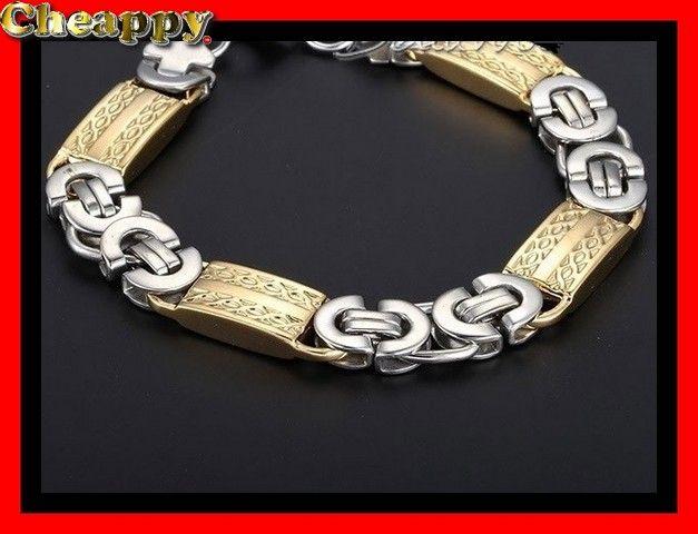 Mooie Byzantijnse armband goud en zilverkleurig 11mm - Cheappy