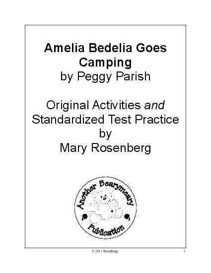 Amelia bedelia writing activities