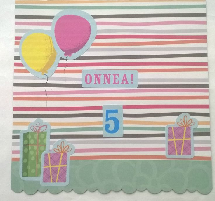 Birthday card with balloons.