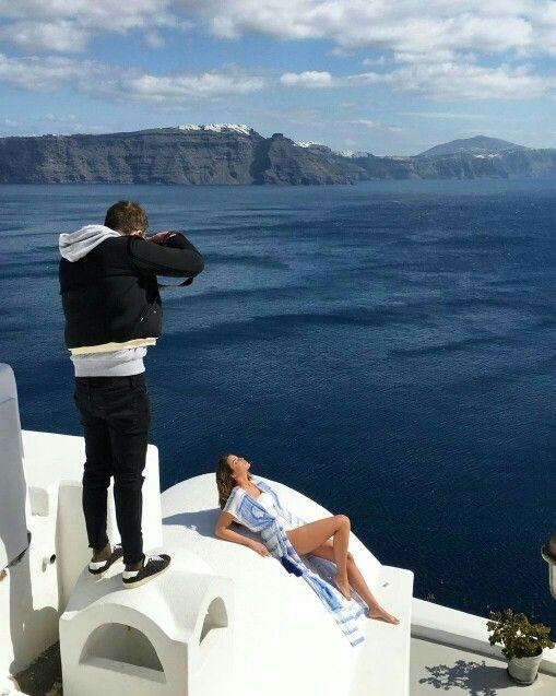 On location for resort16 campaign! #ancientkallos #resortwear #beachwear #santorini