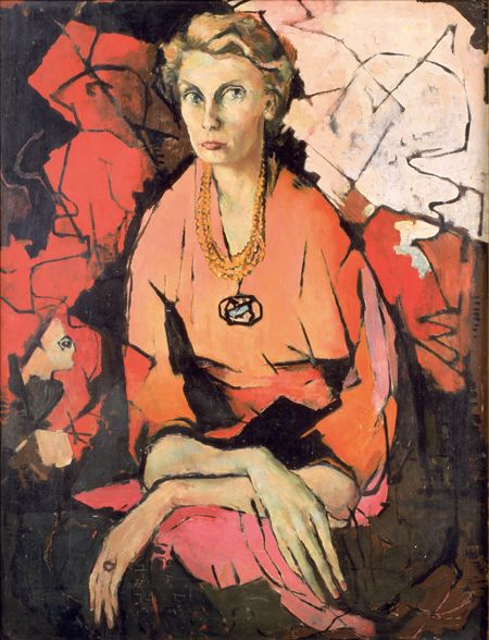 Portrait of Kate Hattam, by Clifton Pugh AO, 1956.  National Portrait Gallery in Canberra.