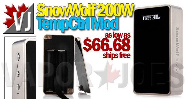 PRICE DROP!! – SnowWolf 200 Watt Mod with TempCtrl from USA!