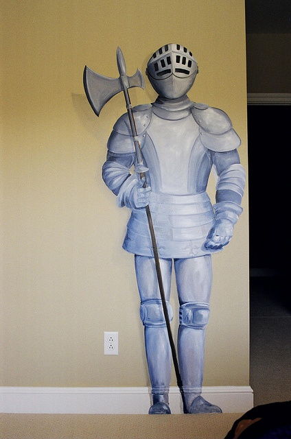 6 foot knight I painted on a boy's bedroom wall.