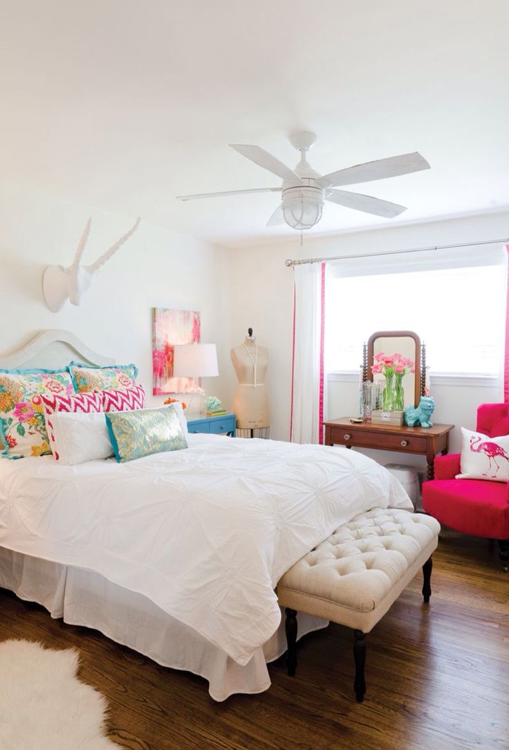 White Bedroom With Pops Of Color. What To Do When Clients Paint Their  Bedrooms White.