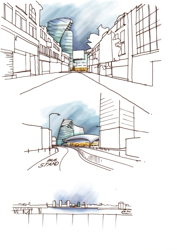 Greenwich Concept Design Sketches by Gustavo De Macedo, via Behance