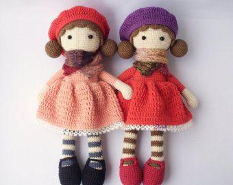PDF Simple Bunny or Teddy Doll Crochet Toy by DuduToyFactory