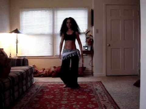 Belly dance drum solo choreography for beginners with music