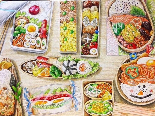 幼稚園のお弁当が月1回になり、さらに息子にキャラ弁を拒否されている今日この頃。お弁当のpostが減ったので塗ってみました☺︎ このページは塗るのと同じくらいに、このおかずは何だろうと悩む時間がありました…。 誤魔化して塗っているものもあるので、見つけてもスルーして頂けたら嬉しいです (´-`) #世界のsweetsdishes #西脇エリ #コロリアージュ #塗り絵 #おとなのぬりえ #おとなの塗り絵 #大人の塗り絵 #色鉛筆 #ホルベイン #ホルベイン色鉛筆 #coloriage #adultcoloring #adultcolouringbook #holbein #coloringbooks #coloringbook #油性色鉛筆 #ステッドラー #staedtler #staedtlerpens