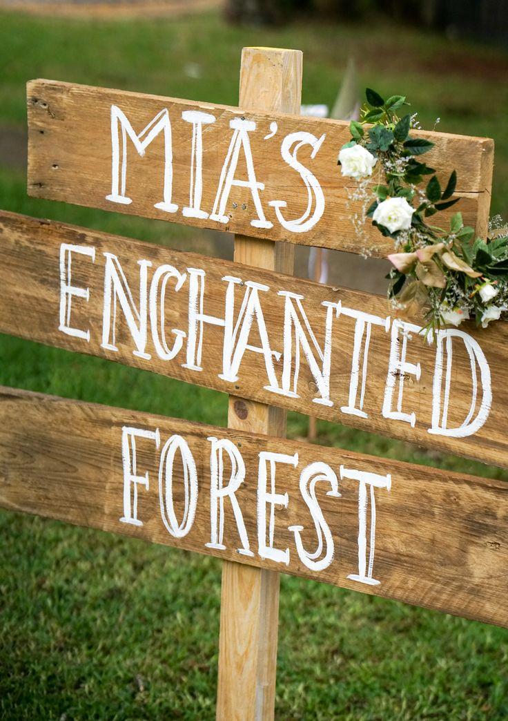 Boho Enchanted Forest Party Sign #BohoPartySign #EnchantedForestPartySign