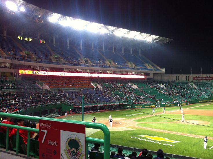 a baseball game @Moonha Kim stadium