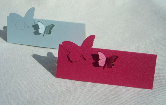 8 Butterfly Wedding Place name cards