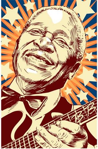 B.B. King Pop Art Print 13x19 by RedRobotCreative on Etsy, $25.00