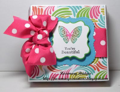 "mini ""pizza"" boz with TGF mini flutter die and stamp set by Rosie"