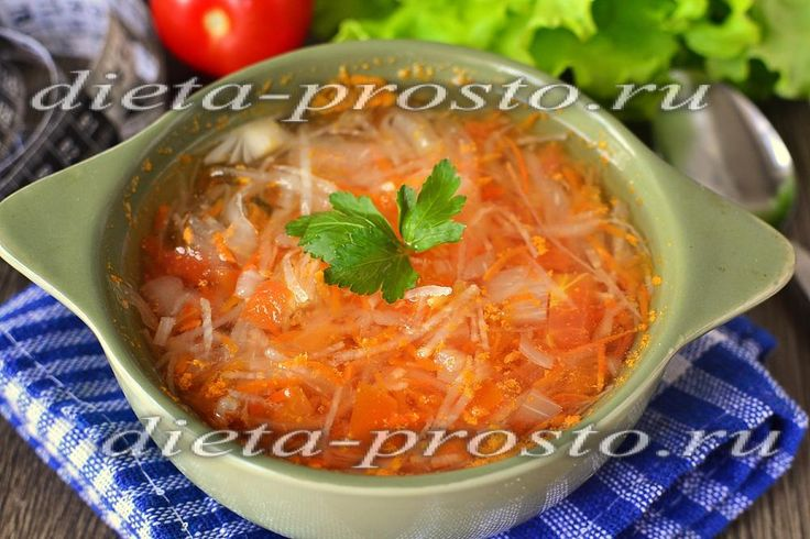 Суп из капусты для похудения, рецепт