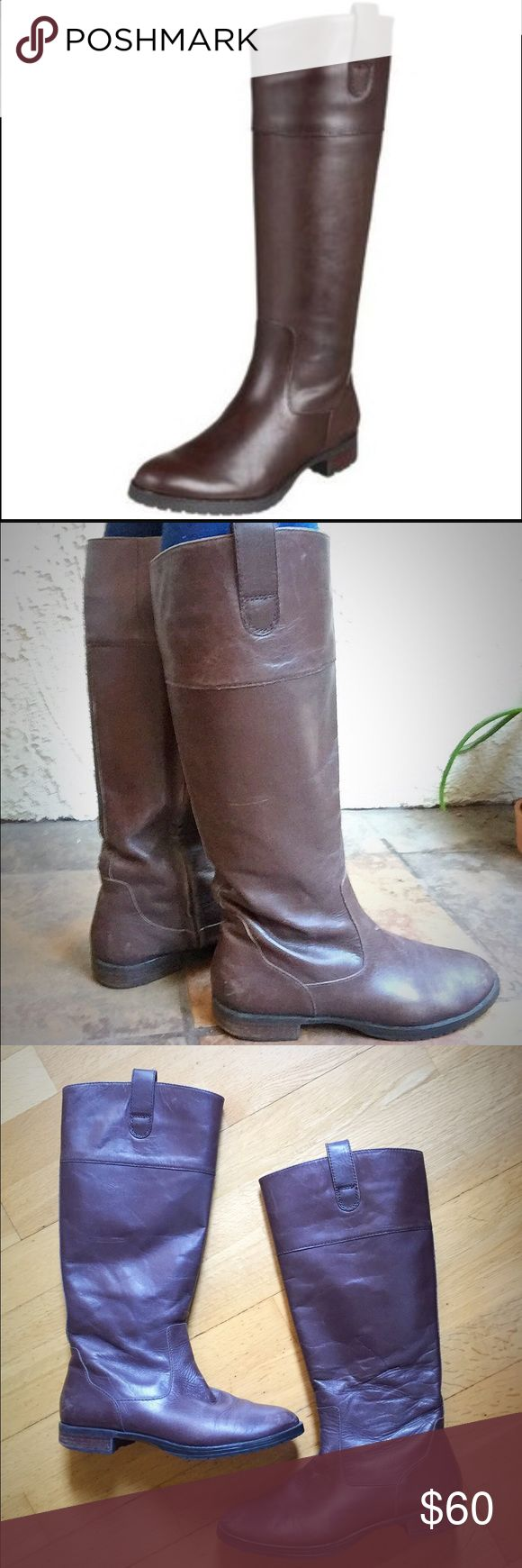 💥SALE💥Ralph Lauren Stara Brown Riding Boots Gorgeous equestrian style riding boot in dark brown from Ralph Lauren. Very comfortable; padded inner lining. Gently used. Ralph Lauren Shoes Winter & Rain Boots