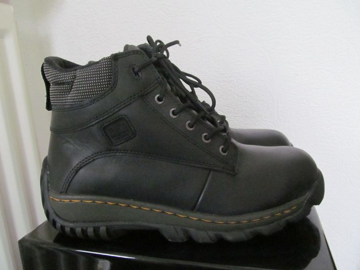 DR. MARTENS INDUSTRIAL STEEL TOE BOOTS IN VERY GOOD CONDITION. SIZE UK 9.   eBay!