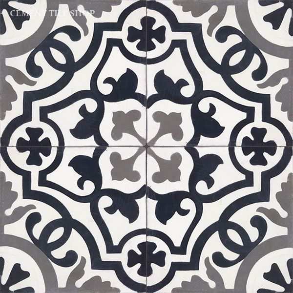 Cement Tile Shop - Handmade Cement Tile | Amalia Black