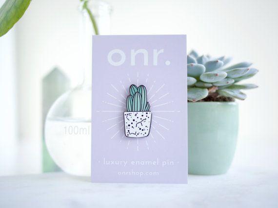 Cactus esmalte Pin Trio / / pin de la solapa de suculentas pin