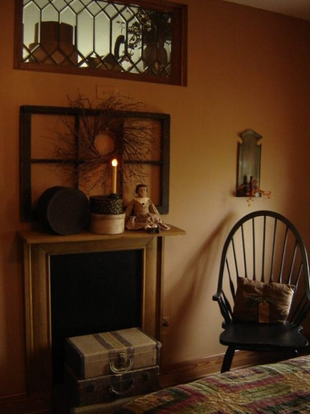 Primitive Decor: Wall Colors, Old Window Frames, Decor Ideas For The Houses, Primitive Things, Decor Ideasfortheh, Mantels Ideas Lov, Window Panes, Primitive Mantels, Primitive Decor