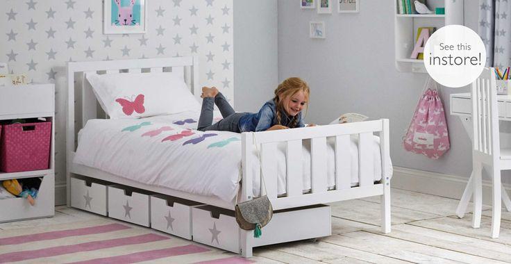 Darwin Single Bed, White