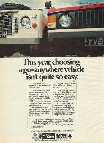 '70's Land Rover Range Rover