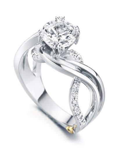 Engagement Ring of the Week: Enchantment - She'll be enchanted by you when you propose with this modern Mark Schneider diamond engagement ring.    http://www.markschneiderdesign.com/home/bridaldetail/1/enchantment.html