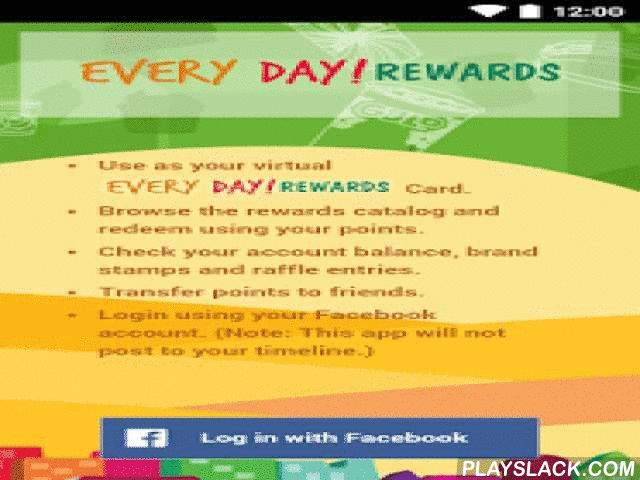 Every Day! Rewards  Android App - playslack.com , This is the official 7-Eleven mobile app for Every Day! Rewards. This loyalty program is available to customers in the Philippines. An active Philippine mobile phone number is required.- Use as your virtual Every Day! Rewards Card.- Browse the rewards catalog and redeem using your points.- Check your account balance, brand stamps and raffle entries.- Transfer points to friends.- Browse and save coupons from our partner brands.- Login using…