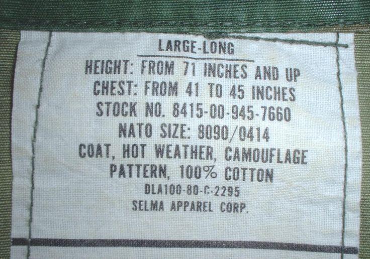 US Army-Marines coat, hot weather, large-long; Selma Apparel 1980; BDU-camo pattern by Nagmashdriver on Etsy