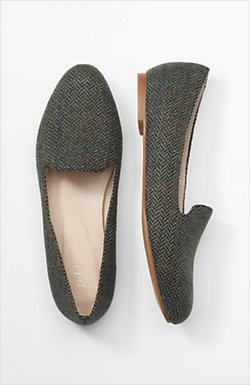 J.Jill Herringbone Smoking Slippers