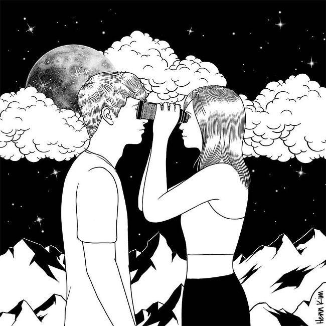 Cet Artiste Coreen Nous Parle D Amour Dans Ses Dessins Et Toute