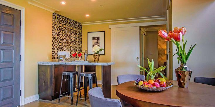 Icon Sky Suite Living Room/Kitchen - La Valencia Hotel - La Jolla, CA