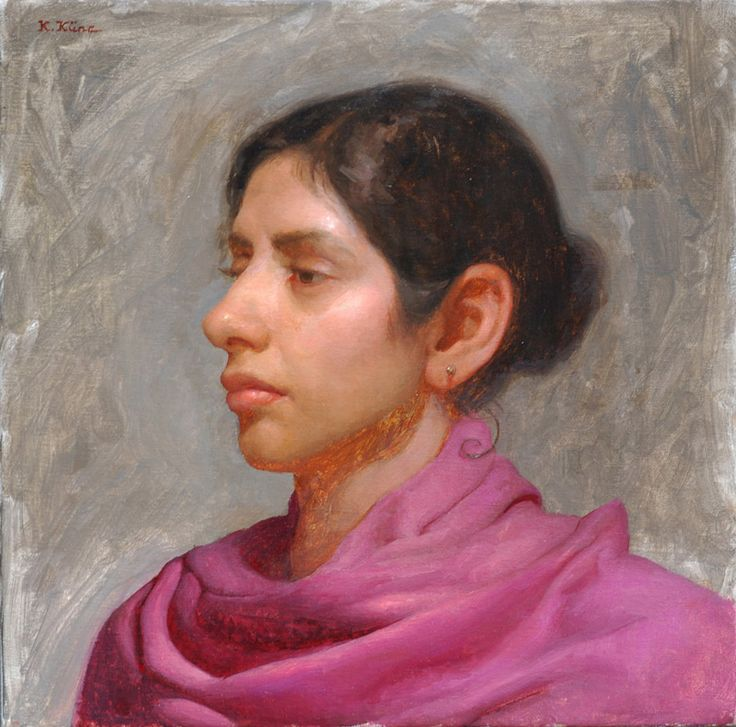 Kristin Kunc- The Girl with a Pink Scarf