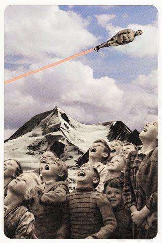 Collage: Collagen Art, Bening Rohlmann, Handmade Collage, Art Collage, Collage Fun, Birds Collage Art, Human Rockets, Rockets Man, Graphics Collage